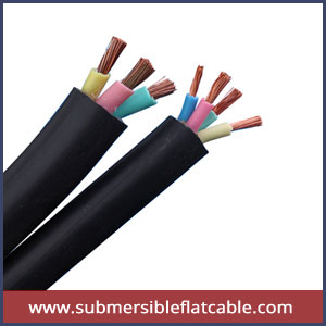 Multi core submersible flat cable
